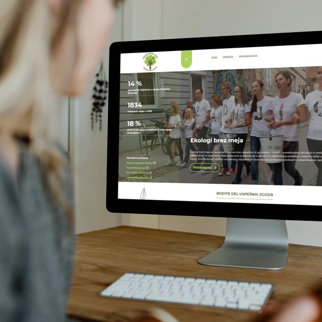 oblikovanje spletne strani ekologi brez meja